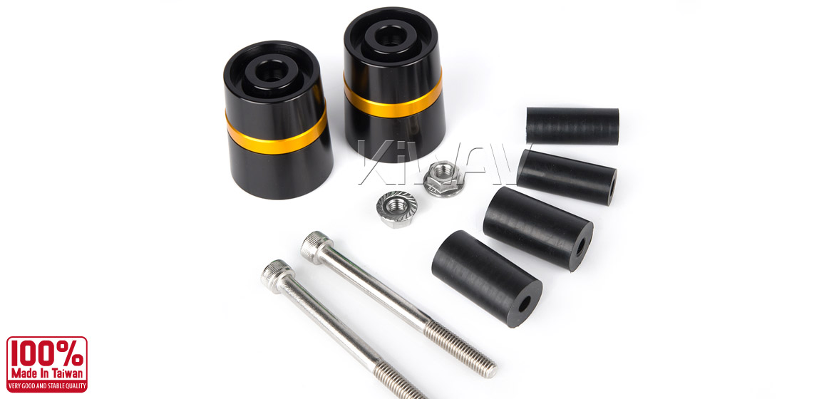 Magazi motorcycle gold CNC aluminum bar ends rubber mount two-tone color style universal-06