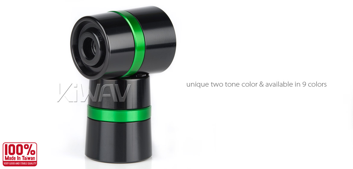 Magazi motorcycle green CNC aluminum bar ends rubber mount two-tone color style universal-03