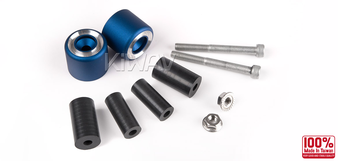 Magazi motorcycle blue CNC aluminum bar ends rubber mount universal fit 7/8inch 1inch handlebar-06