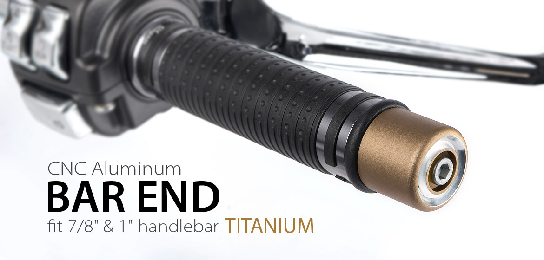 Magazi motorcycle titanium CNC aluminum bar ends rubber mount universal fit 7/8inch 1inch handlebar-01