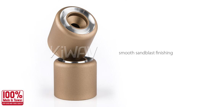 Magazi motorcycle titanium CNC aluminum bar ends rubber mount universal fit 7/8inch 1inch handlebar-02