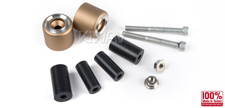 Magazi motorcycle titanium CNC aluminum bar ends rubber mount universal fit 7/8inch 1inch handlebar-06