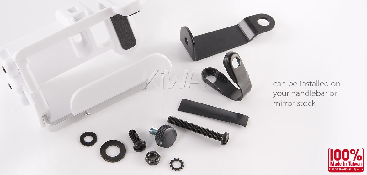 Magazi Motorcycle white Drink Holder for Motorcycle ATV Scooter white