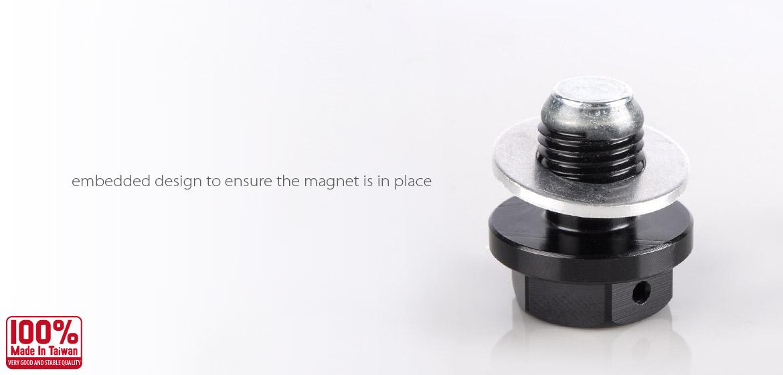 Magazi oil drain plug black M12 x P1.25 fit TOYOTA, NISSAN,DAIHATSU