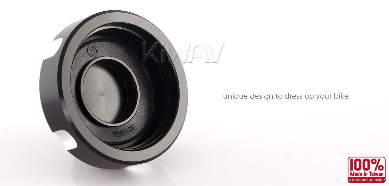 VAWiK Vespa CNC Anodizing Aluminum Alloy 6061 Oil Cap black