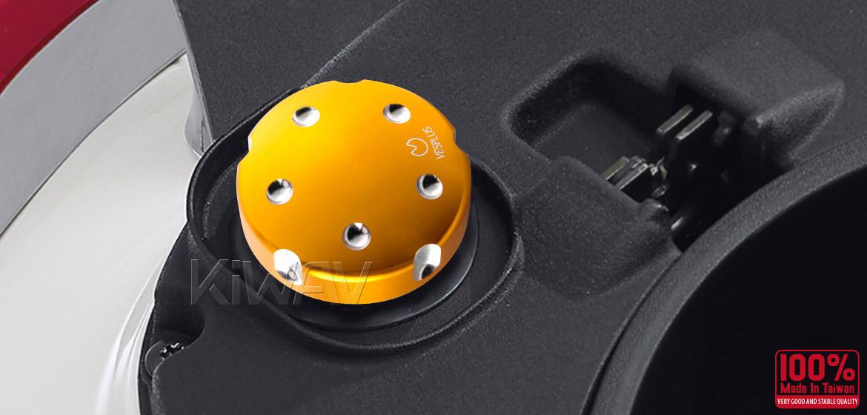 VAWiK Vespa CNC Anodizing Aluminum Alloy 6061 Oil Cap gold