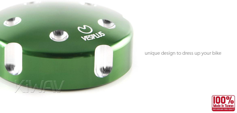 VAWiK Vespa CNC Anodizing Aluminum Alloy 6061 Oil Cap green
