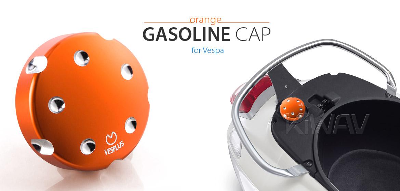 VAWiK Vespa CNC Anodizing Aluminum Alloy 6061 Gasoline Cap orange