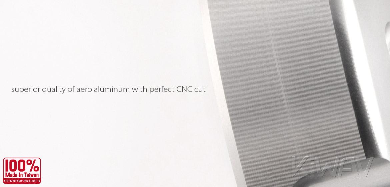 VAWiK Vespa CNC Anodizing Aluminum Alloy 6061 Gasoline Cap silver