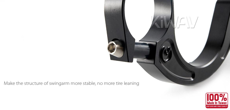 VAWiK CNC Aluminum stabilizer bar swingarm stable bracket  for Vespa LX/LXV/S 125/S 150/ET4 Black