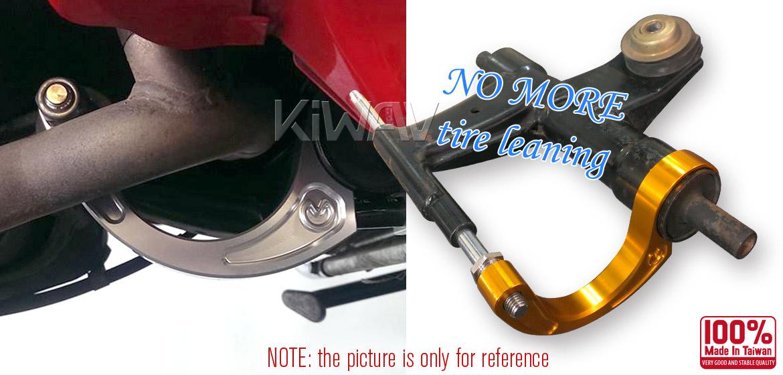 VAWiK CNC Aluminum stabilizer bar swingarm stable bracket  for Vespa LX/LXV/S 125/S 150/ET4 Blue