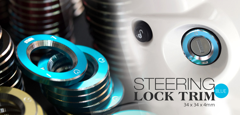 VAWiK CNC Anodizing Aluminum Alloy 6061 steering lock trim for Vespa LX S ET4 GTS GTV blue