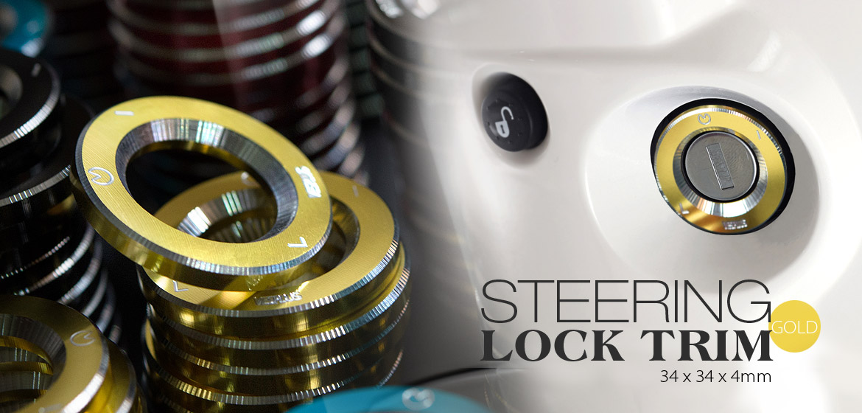 VAWiK CNC Anodizing Aluminum Alloy 6061 steering lock trim for Vespa LX S ET4 GTS GTV gold