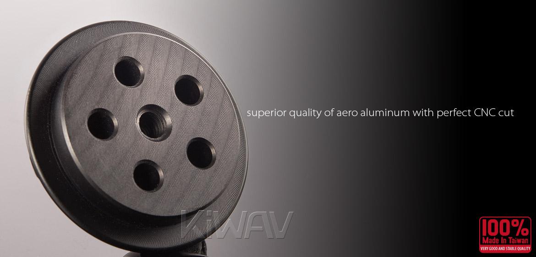 VAWiK Vespa CNC Anodizing Aluminum Alloy 6061 Wheel Hub Cap black