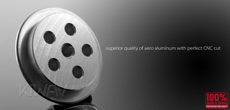 VAWiK Vespa CNC Anodizing Aluminum Alloy 6061 Wheel Hub Cap silver
