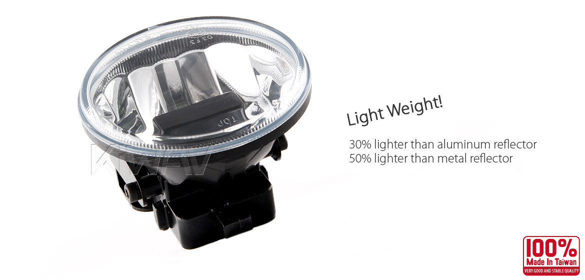 KiWAV 4 inch super bright magnesium LED fog lamp