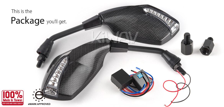KiWAV Oi & Fist LED carbon mirror for BMW