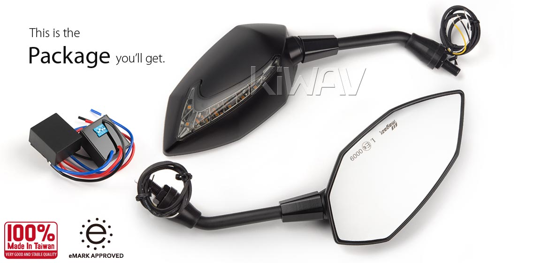 KiWAV Mirrors Lucifer LED + Oi Flasher Rate Control Relay