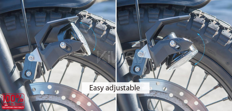 KiWAV motorcycle 2.75 inch 12V 55W round driving light