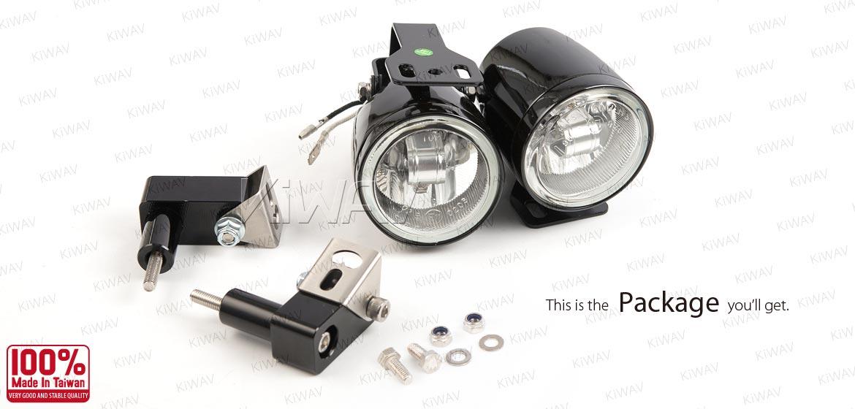 KiWAV motorcycle 2.5 inch 12V 55W round fog lights