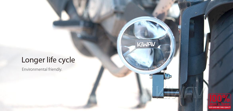 KiWAV motorcycle magnesium round 4 inch 12W LED driving light