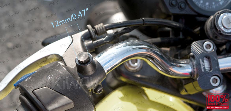 KiWAV motorcycle aluminum mirror hole block-offs black for BMW