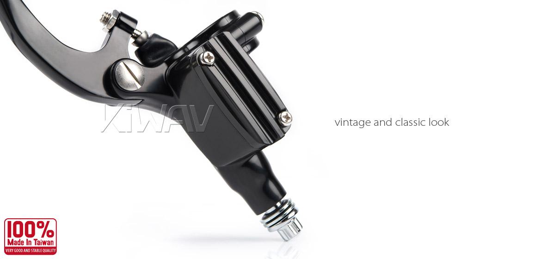 KiWAV Vintage black hand control with throttle clamp for 1 inch handlebar