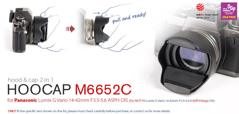 KiWAV Hoocap DSLR Lens Cap and Hood 2 in 1 M6652C