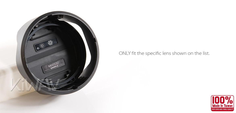 KiWAV Hoocap DSLR Lens Cap and Hood 2 in 1 M6652D