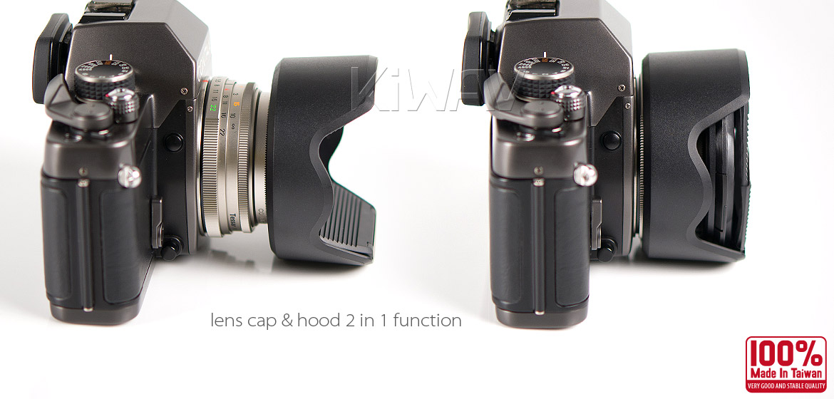 KiWAV Hoocap DSLR Lens Cap and Hood 2 in 1 TM55