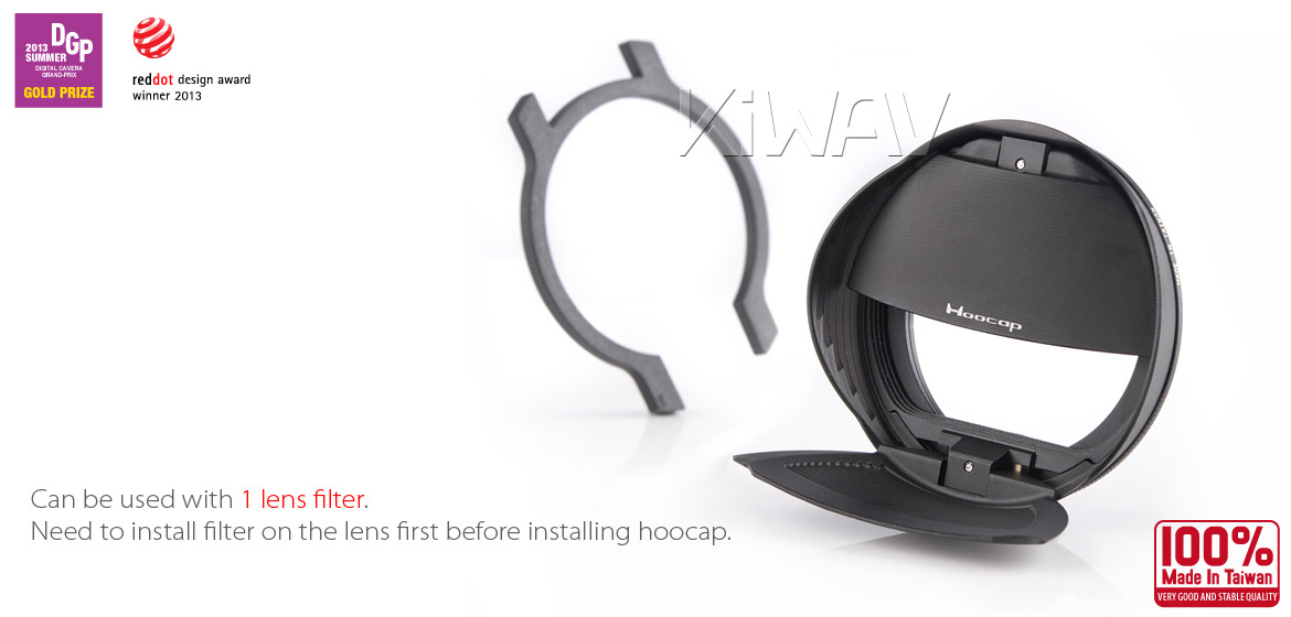 KiWAV Hoocap DSLR Lens Cap and Hood 2 in 1 TX37
