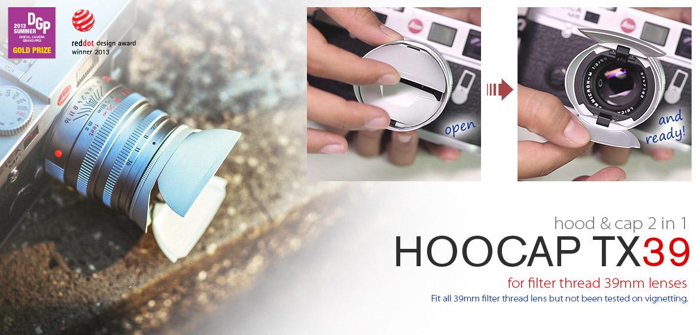 KiWAV Hoocap DSLR Lens Cap and Hood 2 in 1 TX39