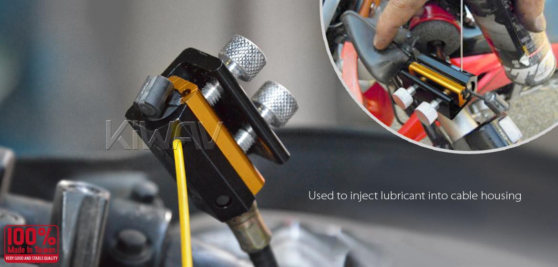 KiWAV motorcycle twin cable lubricator