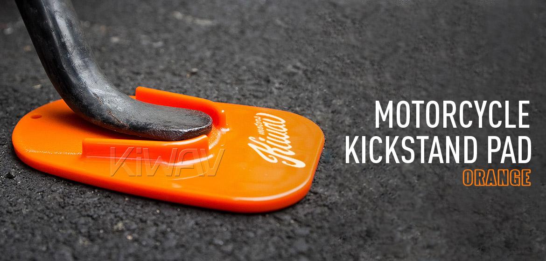 KiWAV motorcycle motorcross orange kickstand pad