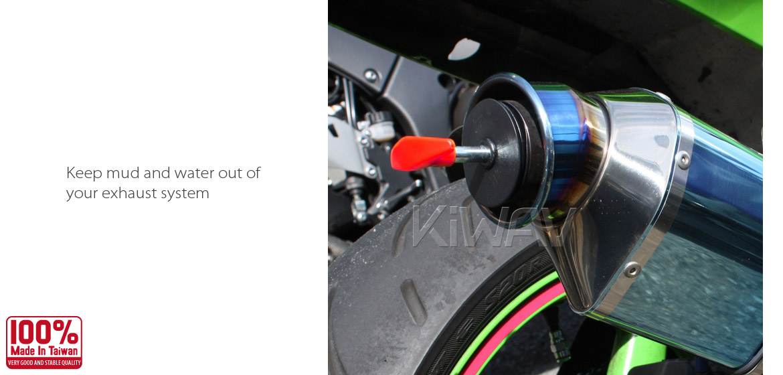 Accessories : KiWAV motorcycle dirt bike ATV exhaust Muffler Plug Large for  4 stroke