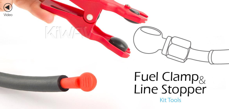 KiWAV Brake Hose Oil Fuel Line Clamp and Stopper Kit Tools Motorcycle