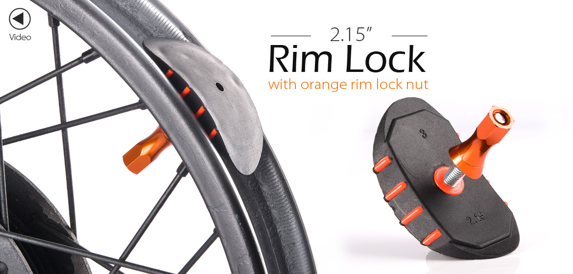 KiWAV Motorcycle Dirt Bike Rim Alloy Lock 2.15 inch with orange rim lock nut