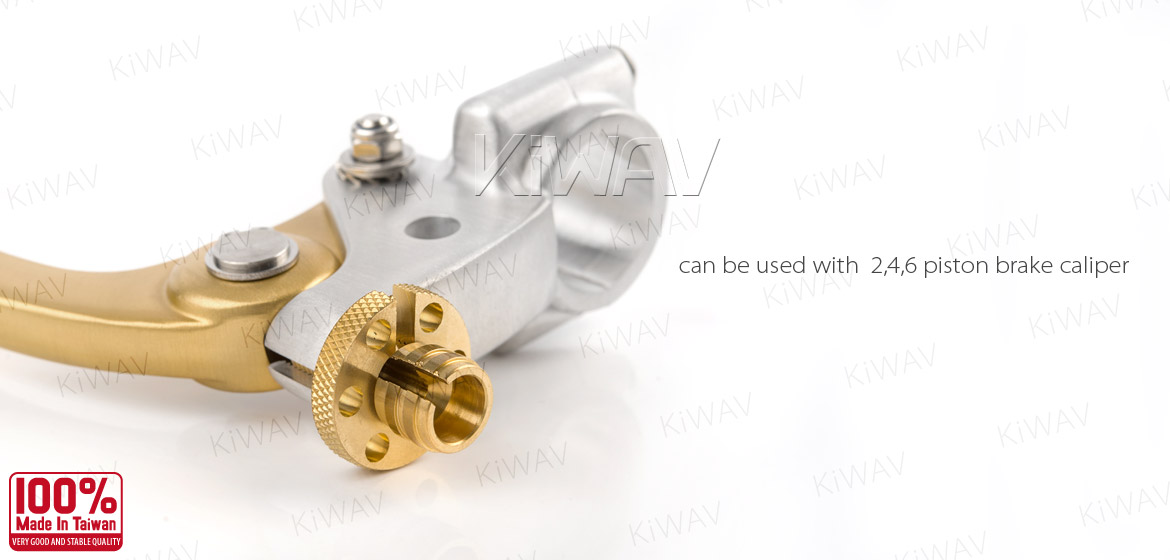 KiWAV Vintage hand control with mechanical clutch & hydraulic brake for 1 inch handlebar silver gold
