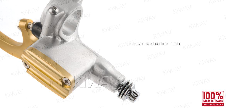 KiWAV Vintage hand control with mechanical clutch & hydraulic brake for 1 inch handlebar silver gold