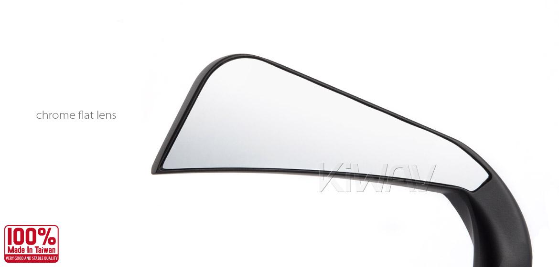 KiWAV motorcycle mirrors AxeLED black harley