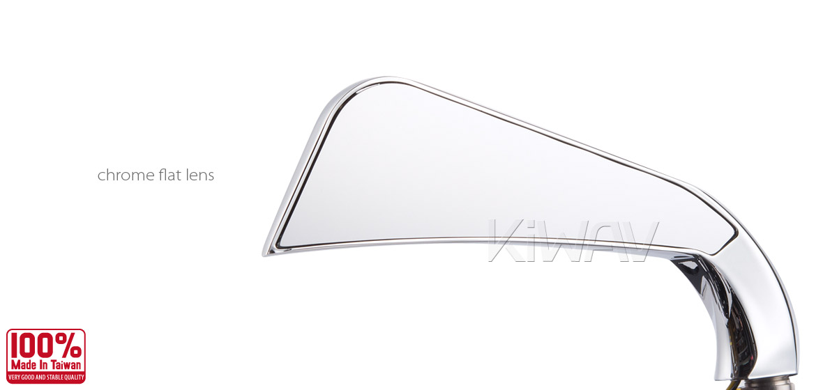 KiWAV motorcycle mirrors AxeLED chrome harley