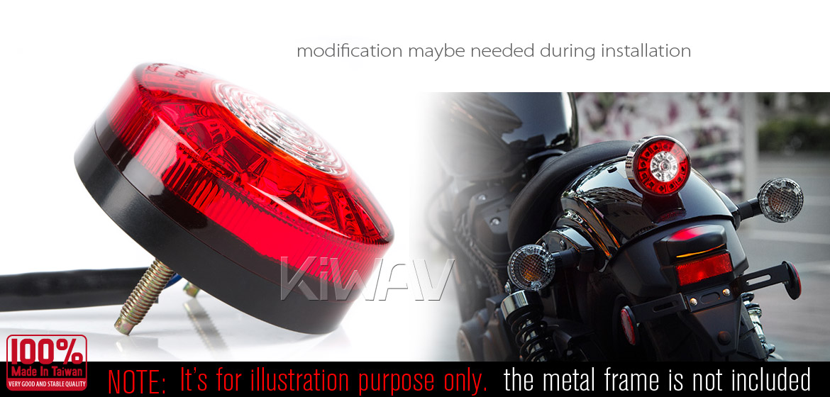 KiWAV street bike halogen SAE headlight universal fit