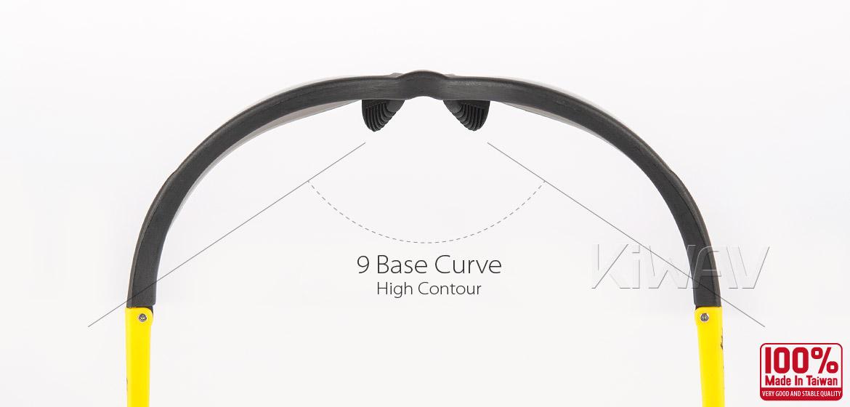 KiWAV Contemporary safety glasses VA210 black frame smoke lens