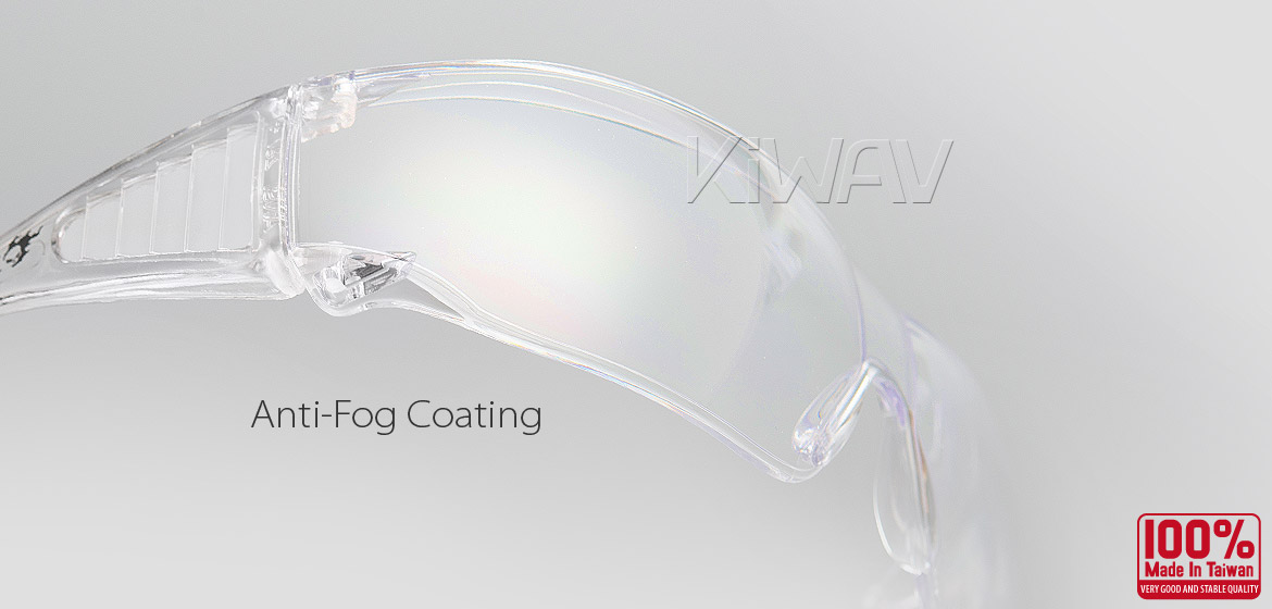 KiWAV Contemporary safety glasses VA340 clear frame clear lens