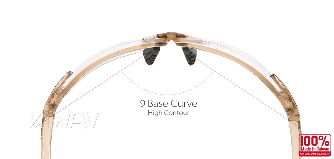 KiWAV Contemporary safety glasses VA830 pink frame replaceable lens