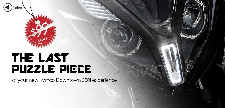 KiWAV Kymco Downtown 350I NMW front cowling position light chrome