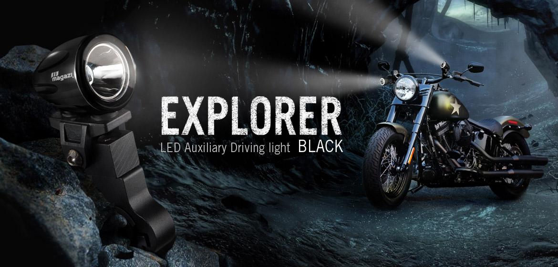 KiWAV Magazi Explorer CNC aluminum anodized black auxiliary LED light
