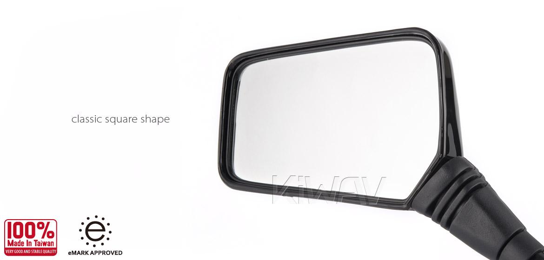 Magazi Brick black 10mm mirror LH for motorcycle golf cart