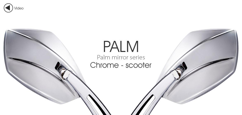 KiWAV motorcycle mirrors Palm chrome scooter Magazi