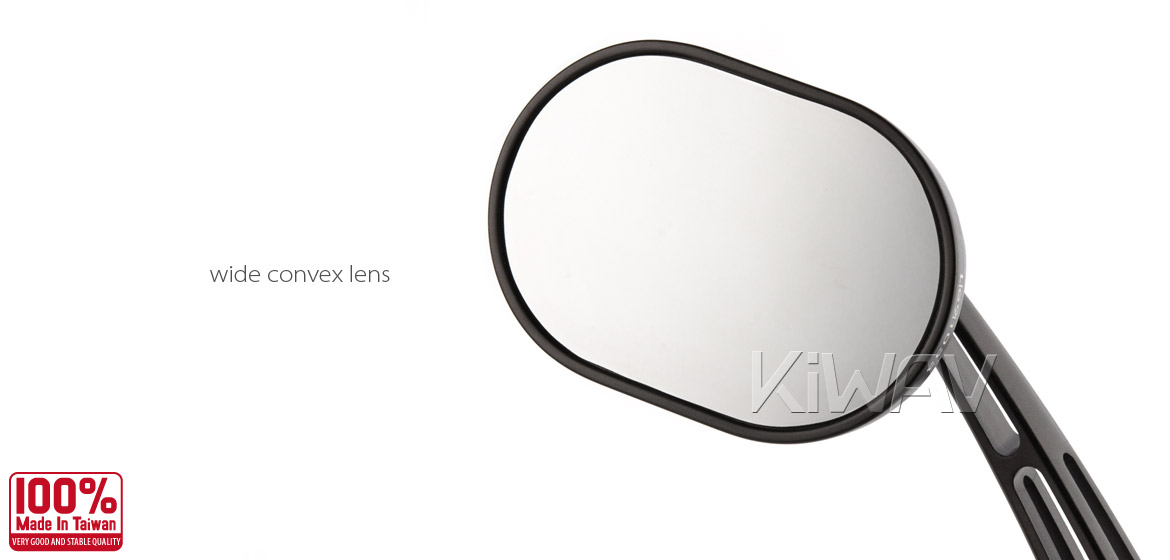 KiWAV motorcycle mirrors Stark black 10mm BMW Magazi